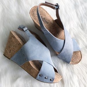 Lucky Brand • Minari Criss Criss Cork Wedge